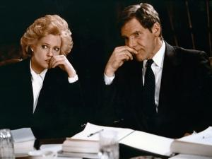 Working Girl by MikeNichols with Harrison Ford and Melanie Griffith, 1988 (photo)