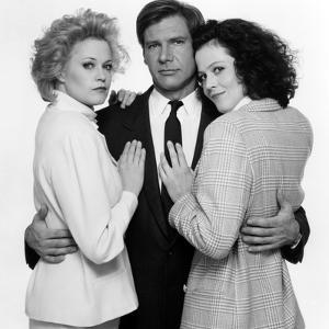 Working Girl by MikeNichols with Harrison Ford, Melanie Griffith and Sigourney Weaver, 1988 (b/w ph