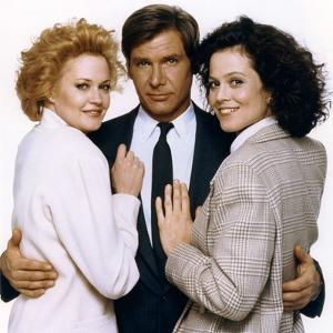Working Girl by MikeNichols with Harrison Ford, Melanie Griffith and Sigourney Weaver, 1988 (photo)