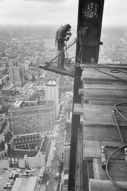 Workman Welding Steel Beams