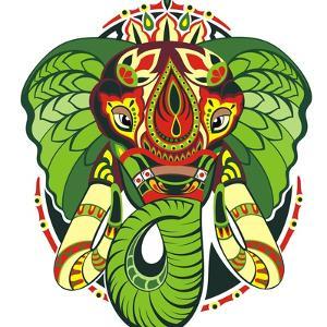 Totem Animal.Elephant by worksart