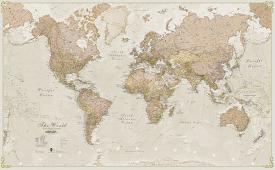 Affordable antique map posters for sale at allposters world antique megamap 120 laminated wall map gumiabroncs Gallery