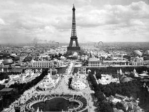 World Fair in Paris in 1900 : Champs De Mars with Eiffel Tower