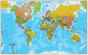 World maps posters for sale at allposters world interactive wall chart gumiabroncs Gallery