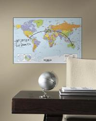 Affordable map wall decals posters for sale at allposters world map dry erase peel and stick giant wall decal gumiabroncs Gallery