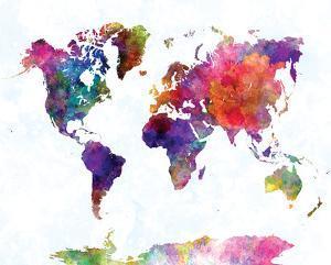 World Map II Watercolor
