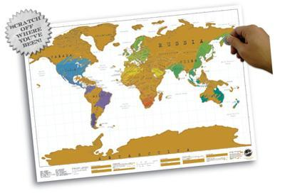 World Map - Scratch Map Poster
