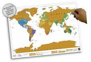 World Map - Scratch Map Poster