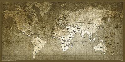 World Map- Textured