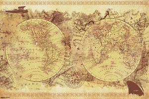 World Map- Vintage Collage