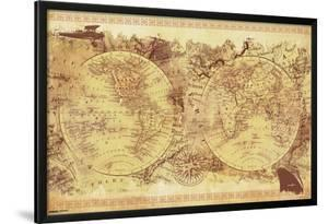 World Map- Vintage Collage