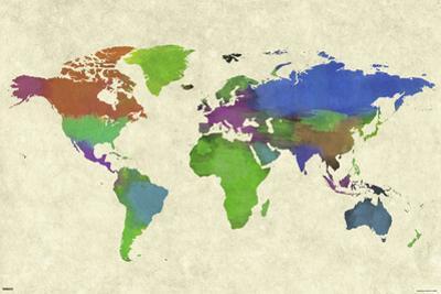 World Map- Watercolor Beauty