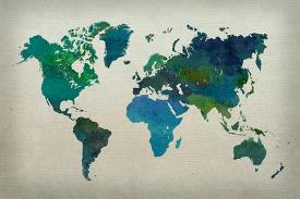 Affordable map posters for sale at allposters world map watercolor cool gumiabroncs Choice Image