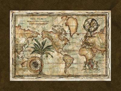 World Map with Globe