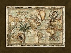 Affordable antique map posters for sale at allposters world map with globe gumiabroncs Gallery
