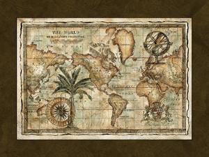 World Map with Globe