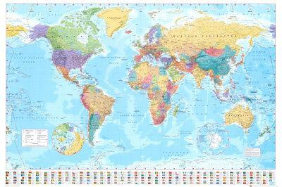 World Maps Posters for sale at AllPosterscom