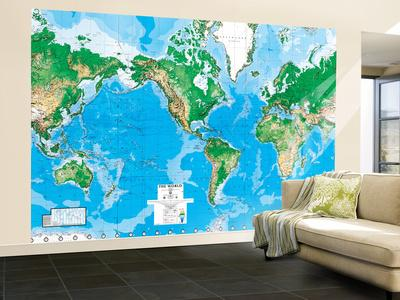 World map outline mural gallery diagram writing sample and guide map wall murals posters at allposters world map wallpaper mural sciox gallery sciox Image collections