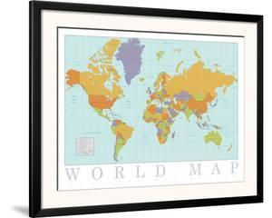 World maps poster frames for sale at allposters gumiabroncs Image collections