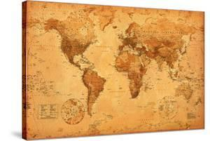 World maps framed art for sale at allposters world map gumiabroncs Choice Image