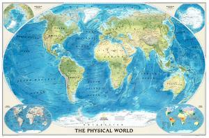 World Physical Map of the Ocean Floor