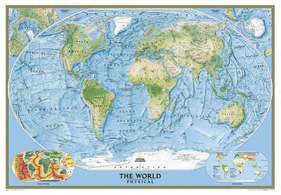 World Physical Map of the Ocean Floor