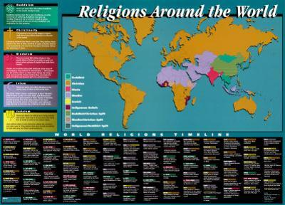 World Religions Map & Timeline