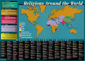 World Religions Map & Timeline