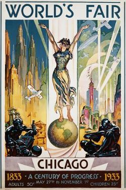 World's Fair Chicago Poster by Glen C. Sheffer