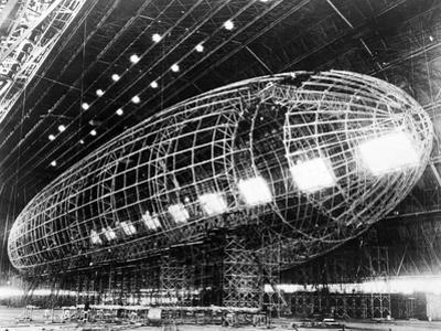 World's Largest Dirigible Near Completion, Published 1930S
