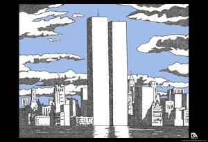 World Trade Center Names Memorial Text Poster