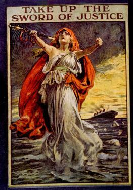 World War I, British War Poster Regarding the Sinking of the Lusitania, 1915