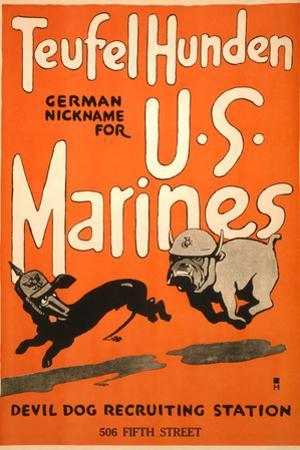 World War I Devil Dog Poster