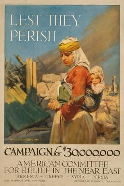 World War I Poster Appealing for Aid for Armenians, 1917