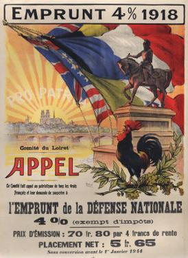 World War I Poster Features a Statue of a Mounted Joan D'Arc, Paris, 1918