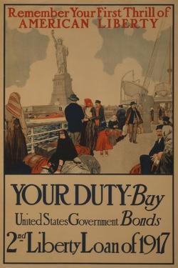World War I Poster Urging American Immigrants to Buy U.S. War Bonds