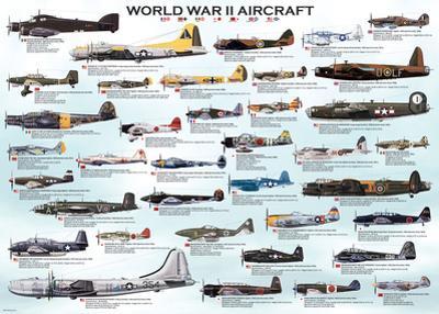 World War II Aircraft 1000 Piece Puzzle