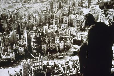 World War II. Dresden Destroyed by Bombing