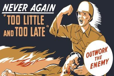 World War II Propaganda Poster of a Soldier Holding His Dead Comrade