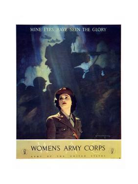 World War II Women's Army Corps (Wacs) Recruitment Poster Art