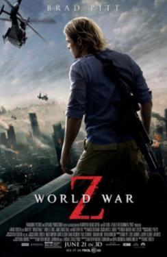 World War Z (Brad Pitt, Mireille Enos, Daniella Kertesz) Movie Poster