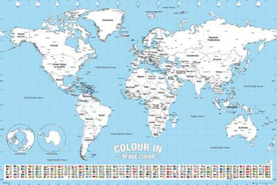 World Map Colour Me In