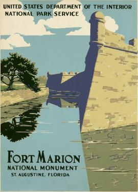 Fort Marion National Monument, St. Augustine, Florida, ca. 1938 by WPA
