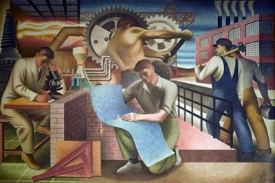 Wpa Mural. Mural by Charles Klauder Ca, 1940. Located in the Cohen Building Washington D.C