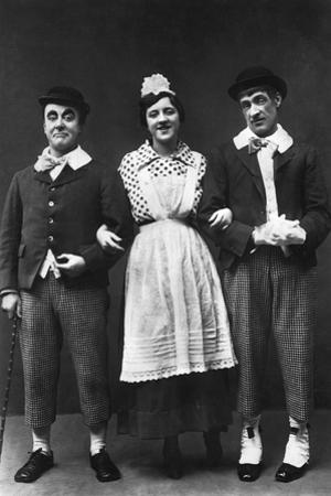 George Robey, Violet Loraine and Alfred Lester, Music Hall Entertainers, Early 20th Century by Wrather & Buys