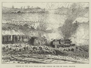 Wreck of the Mail Train on the Chemin De Fer Du Nord, France