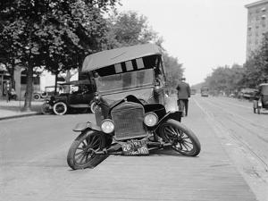 Wrecked Car on Washington, D.C. Street in 1922
