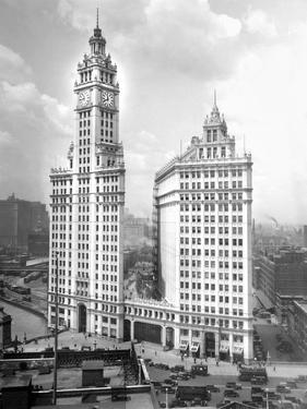 Wrigley Building on Michigan Avenue in Chicago, Ca. 1928