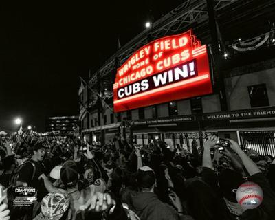 Wrigley Field after Game 7 of the 2016 World Series Spotlight