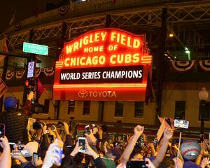 Wrigley Field after Game 7 of the 2016 World Series